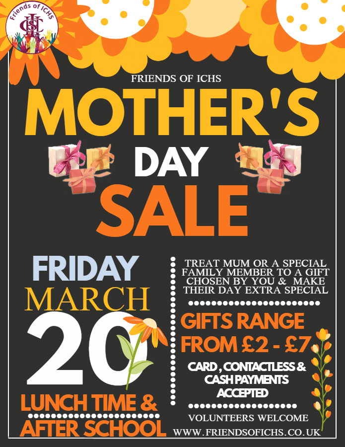 Ilford County High School mothers day sale
